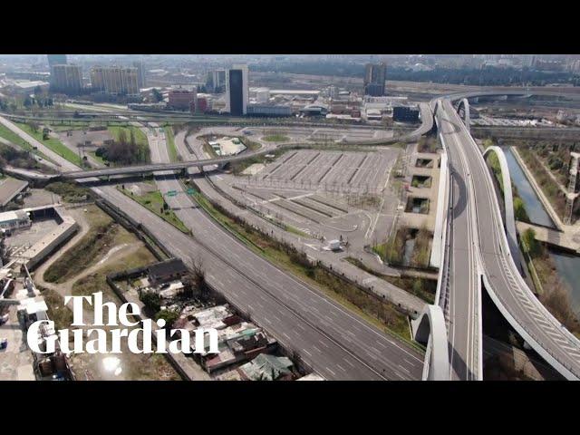 Drone footage shows empty roads in Italy amid coronavirus lockdown