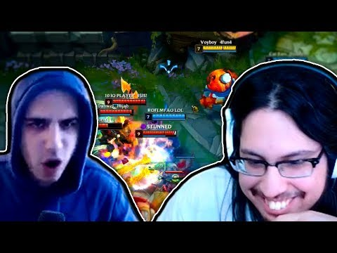Imaqtpie & IWillDominate Roast Scarra *BRUTAL* | 200IQ Voyboy & Tyler1 | LoL Funny Moments