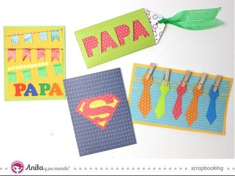 4 Tarjetas Para El Dia Del Padre Faciles Ideas Dia Del Padre