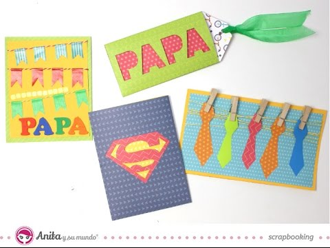 Manualidades Faciles Para El Dia Del Padre.4 Tarjetas Para El Dia Del Padre Faciles Ideas Dia Del Padre