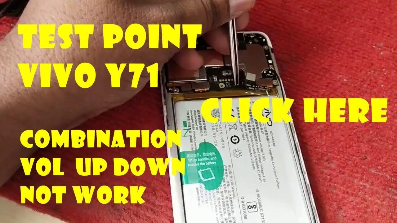 TEST POINT VIVO Y71 ll tombol kombinasi volume atas bawah