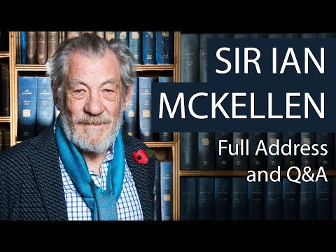 Sir Ian McKellen  Full Address and Q&A  Oxford Union