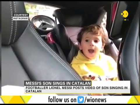 Messi's son sings in Catalan