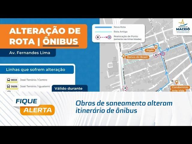 Obras de saneamento alteram itinerário de ônibus na Gruta de Lourdes