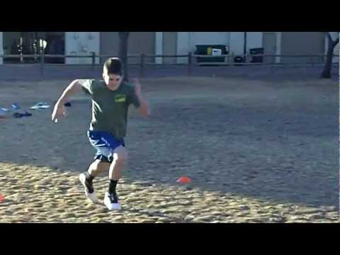 Speed Training - Lacrosse Players working on Sprints