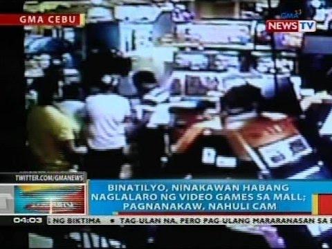 Binatilyo, ninakawan habang naglalaro ng video games sa mall sa Cebu City