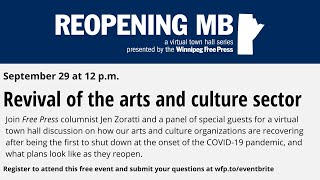 Reopening MB: Revival of the arts and culture sector
