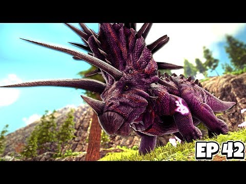 Fighting the JUGGERNAUT BOSS + TEK CROSSBOW Crafting! | ARK Survival Evolved Jurassic #42