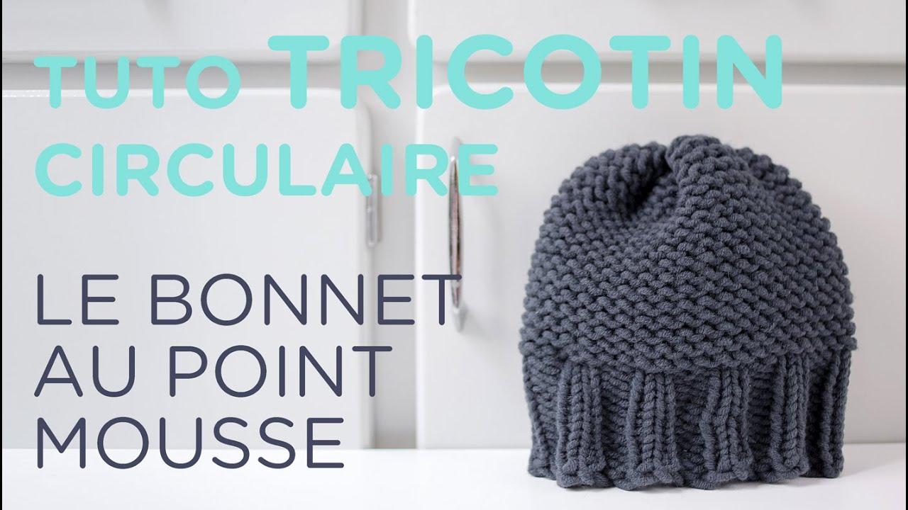 Tuto tricotin  le bonnet point mousse et bord côtes / Loom knit a beanie