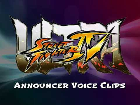 Ultra Street Fighter IV Announcer Voice Clips HD