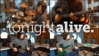 Lonely Girl - Tonight Alive (Instrumental Cover) (Guitar Cover) (Bass Cover) (Drum Cover)