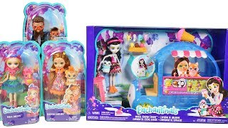 Enchantimals Wheel Frozen Treats Playset Hixby Hedgehog, Cherish Cheetah and Peeki Parrot Unboxing