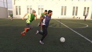أول مباراة على اليوتيوب   سجلت هدفين   challenge football crossbar