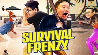 8 NGƯỜI TRÊN ĐẢO HOANG, CHỈ 1 NGƯỜI SỐNG SÓT =)))) - Survival Frenzy cùng các con giời !!!