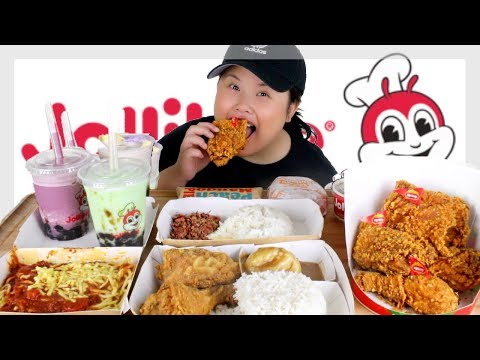 JOLLIBEE SPICY FRIED CHICKEN MUKBANG 먹방 FIRST IMPRESSIONS! | EATING SHOW