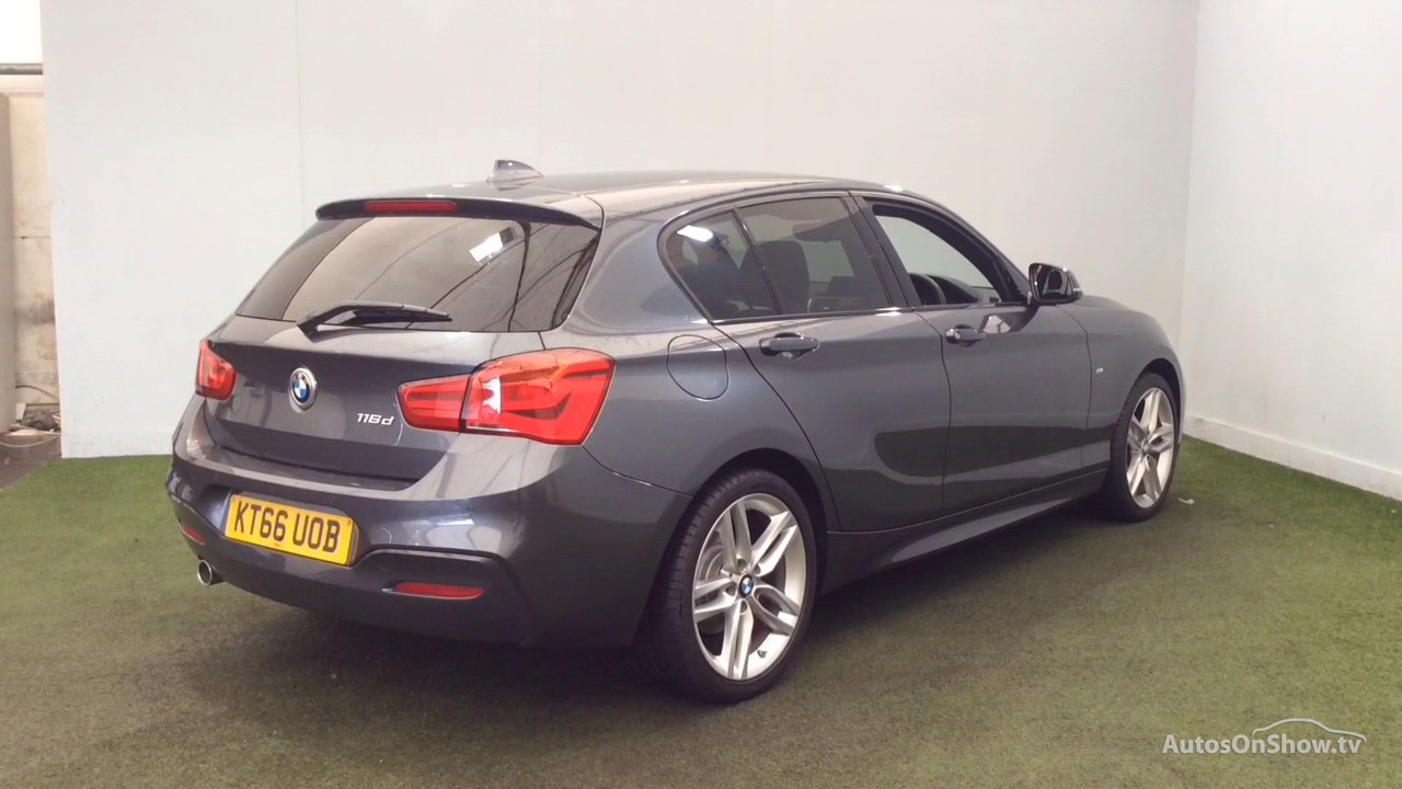 bmw 1 series 116d m sport grey 2017 youtube. Black Bedroom Furniture Sets. Home Design Ideas