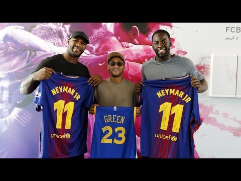 NBA's Green, NFL's Branch visit FC Barcelona