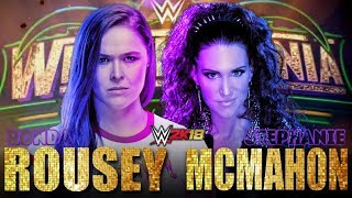Ronda Rousey vs. Stephanie McMahon- Wrestlemania 34 | WWE 2K18 Simulation