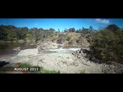 Dights Falls Weir And Fishway Completion - November 2012