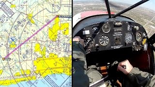 Skirting major Class C control zone; no transponder - Super Cub - Flying - ATC audio
