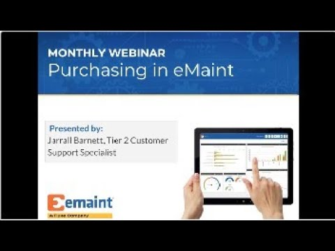 Web Workshop: Purchasing in eMaint X4 - YouTube