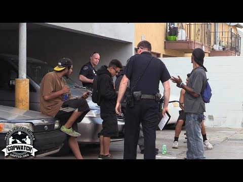 Copwatch Youngsters Allegedly Smoking Weed in the Alley