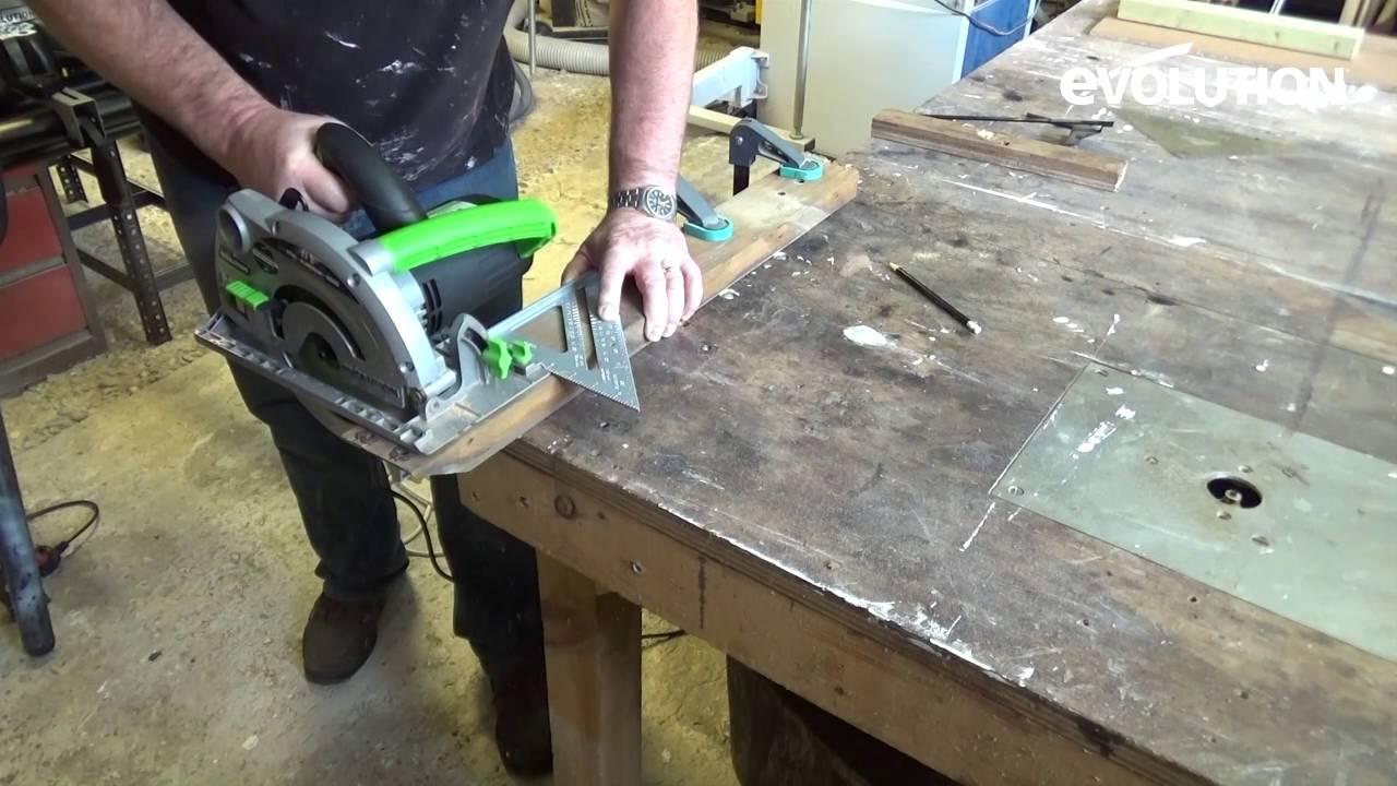 Evolution Fury185mm Circular Saw Cut Brick Using A You