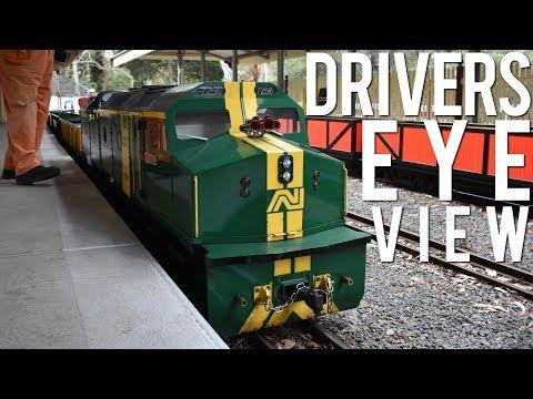 Driving a Diesel Hydraulic! (Diamond Valley 57th Birthday Run) | 7256