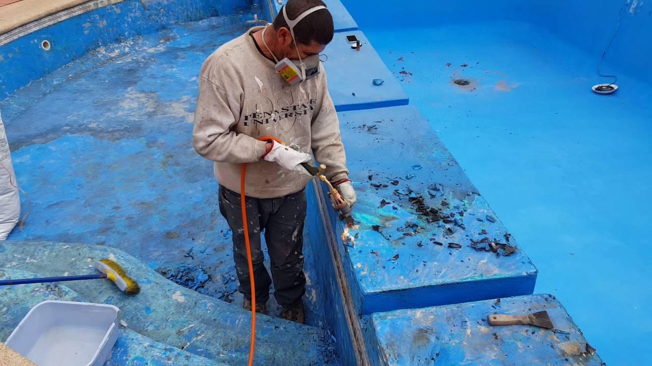 Sacar la pintura de piscina youtube - Pintura para baneras precio ...