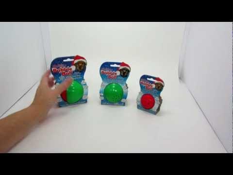 Holiday Babble Ball Talking dog toy