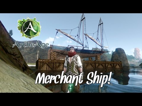 ArcheAge - Building my Merchant Ship!