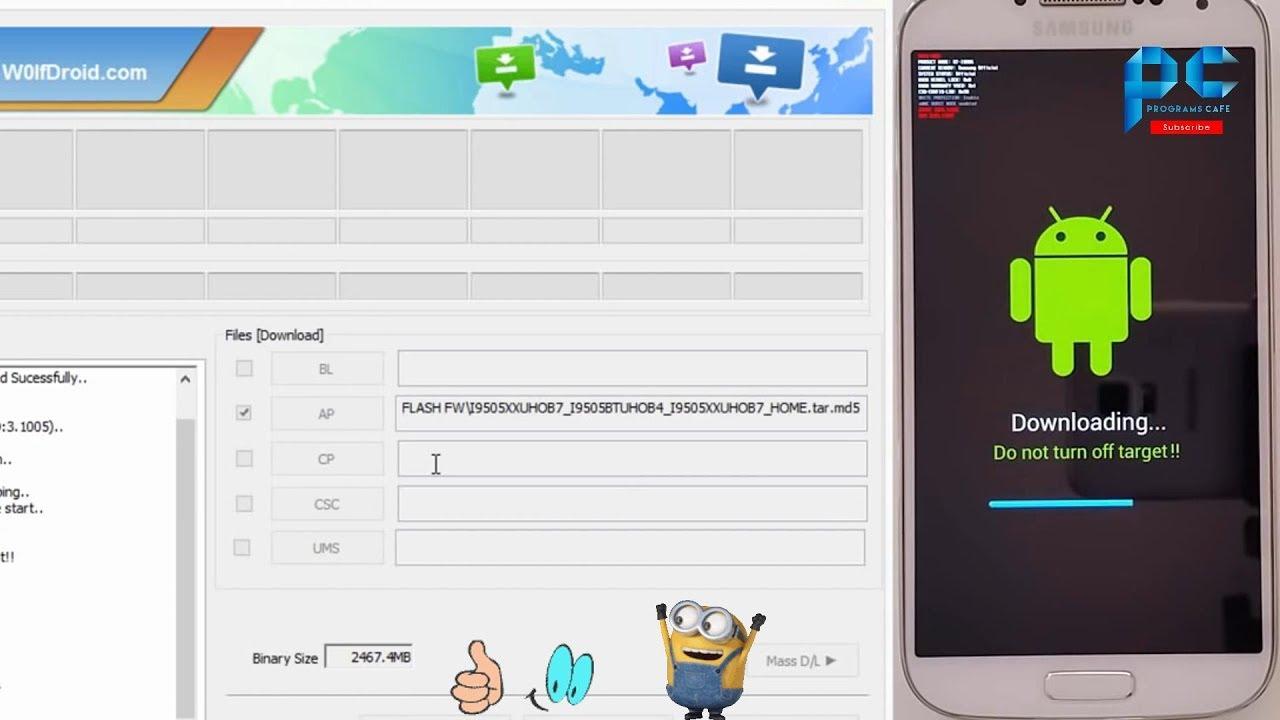 شرح آخر اصدار من برنامج Odin v5.5.5 وعمل سوفت وير لأجهزة Samsung