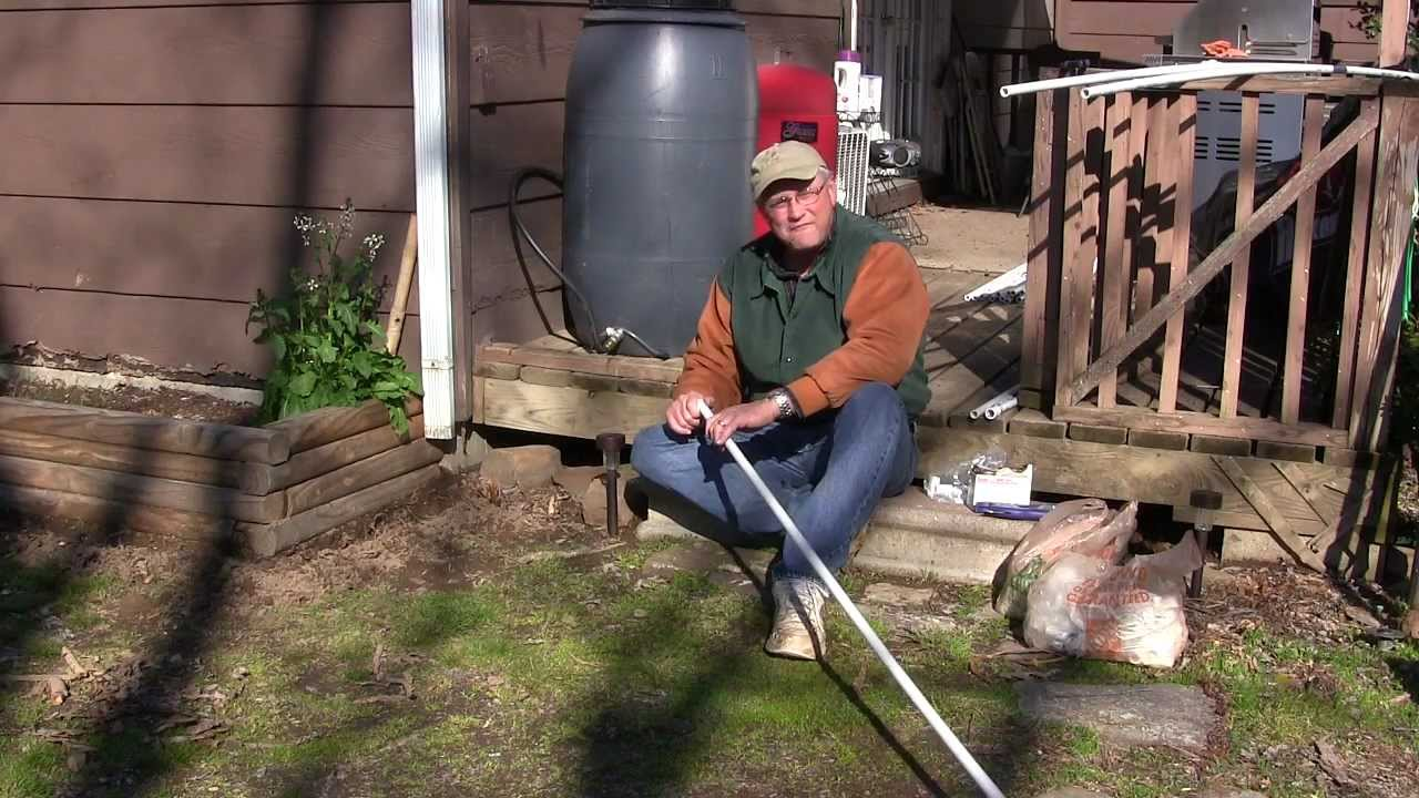 Garden Drip Irrigation Part 2 Trenching Connecting Pvc