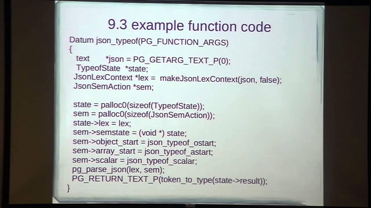 Andrew Dunstan: Using JSON with Postgres 9 3