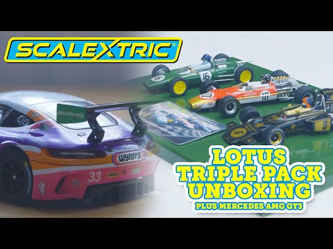 SCALEXTRIC |  – UNBOXING – Lotus GP Triple Pack