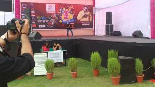 Rap it up (competition- round 1), ITM university, Gurgaon, India; Performer.. Shaunak Rawat