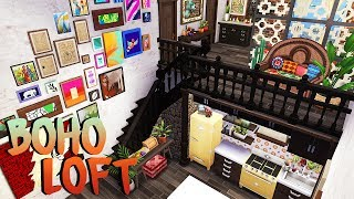 BOHO LOFT 🧡 | The Sims 4 | Apartment Renovation Speed Build