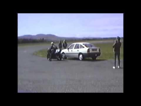1990 IOM TT JPS Nortons at Jurby air field