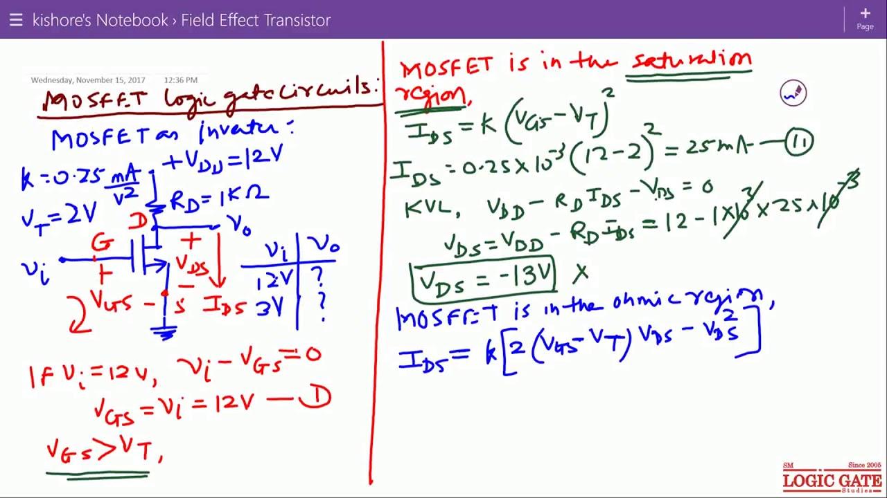 Mosfet Logic Gate Circuits Youtube Diagrams