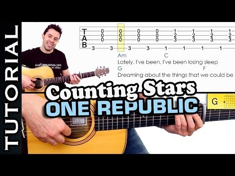 Como tocar Counting Stars de One Republic en guitarra MUY FACIL guitar lesson how to play