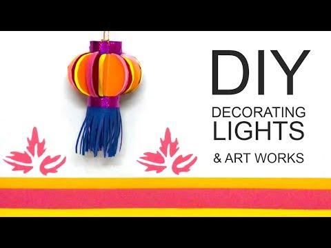 DIY Paper Lamp Lantern Light - how to make a light out of paper | Soda Fountain VLOG