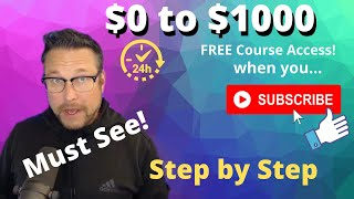 $100 into $1000 in a Day - Free Course Access - Passive Income Tutorial - Watch and Learn