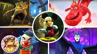 All Boss Fights & Final Boss - Castle of Illusion Starring Mickey Mouse (Disney Cartoon) [1080p]