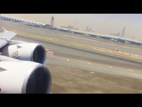 Emirates Airbus A380 Powerful Takeoff From Dubai with Spectacular Views EK406