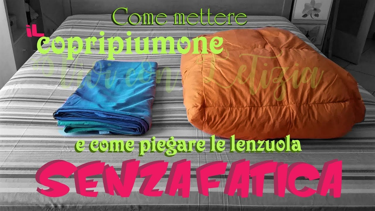 Come Piegare Lenzuola Matrimoniali.How To Put On Duvet Cover