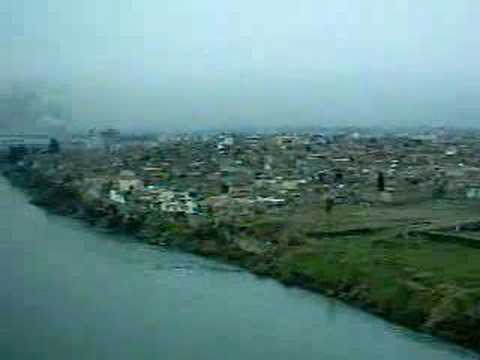 FLYING OVER THE TIGRIS RIVER NEAR MOSUL