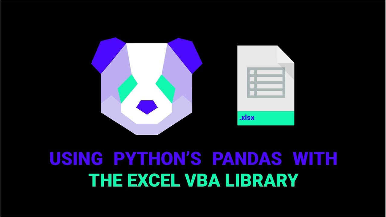 How To Use Python's Pandas With The VBA Library