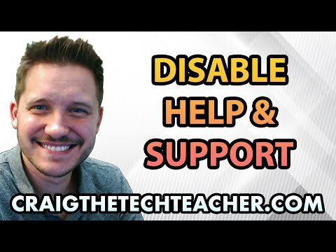 Disable Help And Support Service on Windows XP