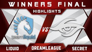 Liquid vs Secret Winners Final DreamLeague 8 Major 2017 Highlights Dota 2
