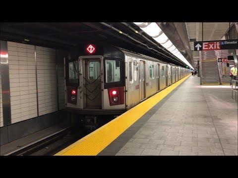 NYC Subway HD 60fps: R188 & R62A 7 Train Action @ 34th Street - Hudson Yards (6/16/17)